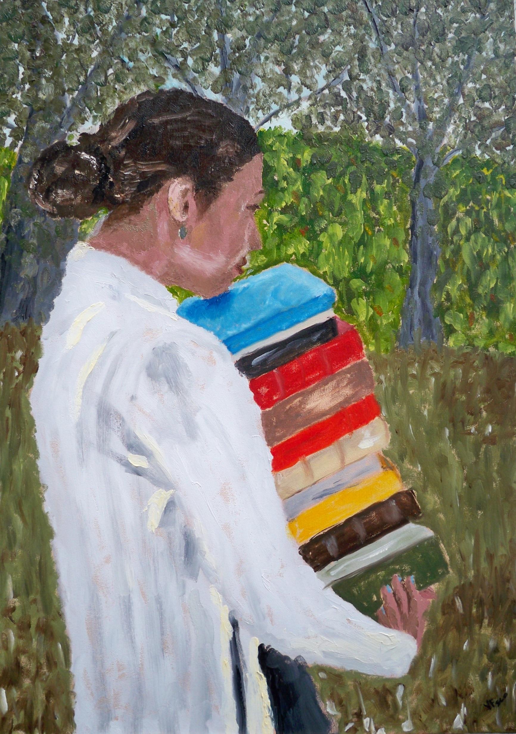 Culture's weight. Il peso della cultura. Painting. | Vittorio Francisco Art