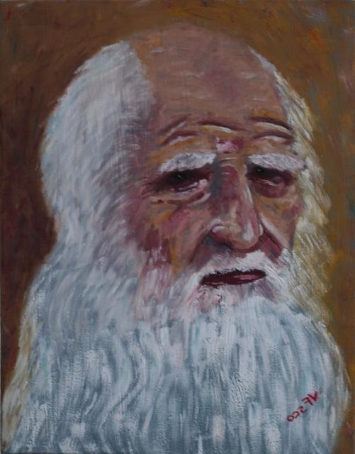 A tribute to Leonardo da Vinci, portrait by Vittorio Francisco Art