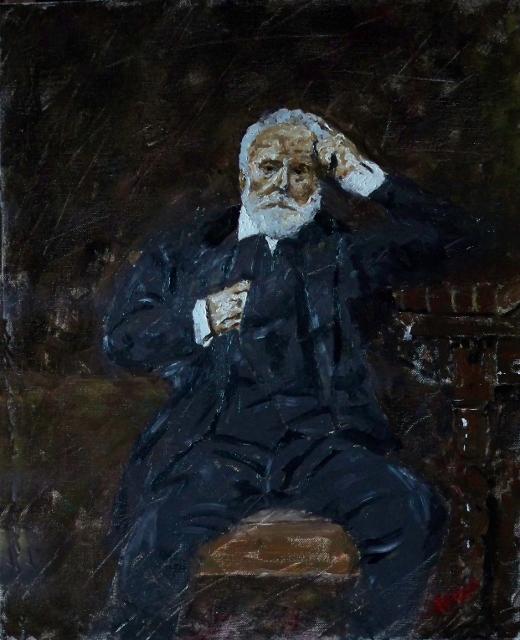 Victor Hugo, portrait by Vittorio Francisco Art