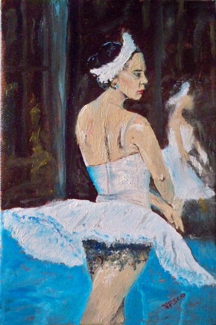 Ballerina. La prima. Painting | Vittorio Francisco Art